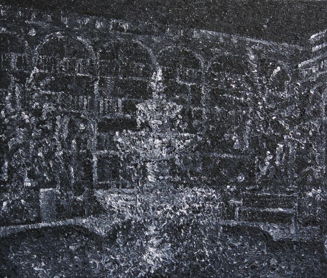 Fountain II - Oil on Canvas, 80 x 95 cm, 2013