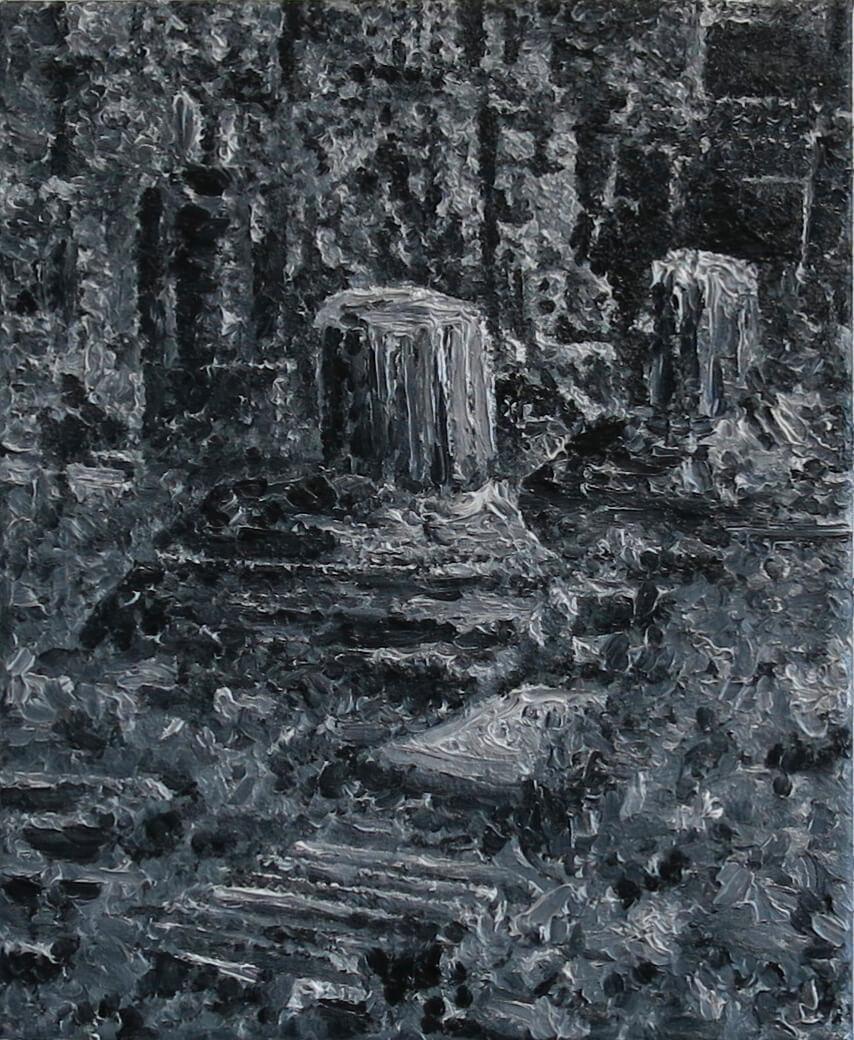 Roman Leftovers IV - Oil on Canvas, 55 x 45 cm, 2013