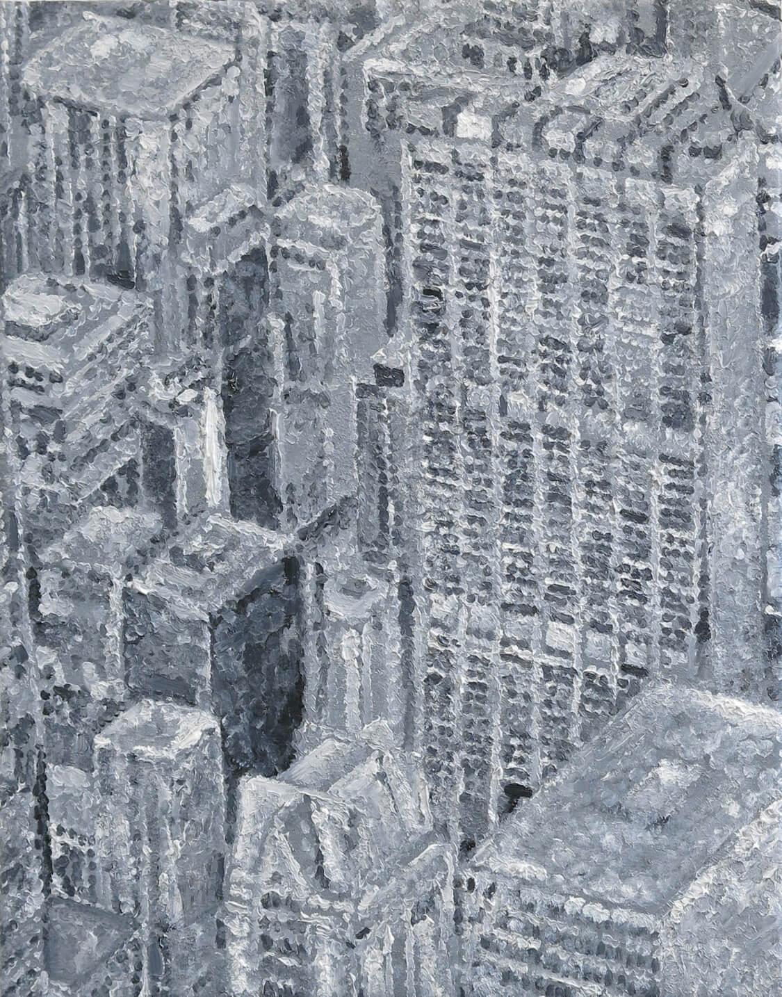Urban View - Oil on Canvas, 70 x 55 cm, 2014