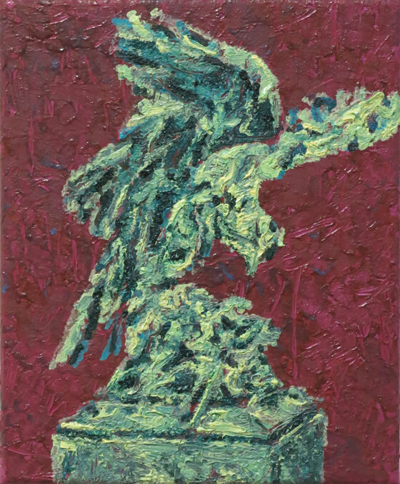 Monuments III - Oil on Canvas, 45 x 36,5 cm, 2014