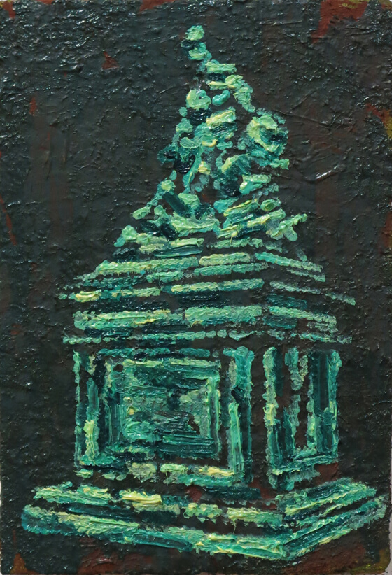 Monuments IV - Oil on Wood, 25 x 20 cm, 2015