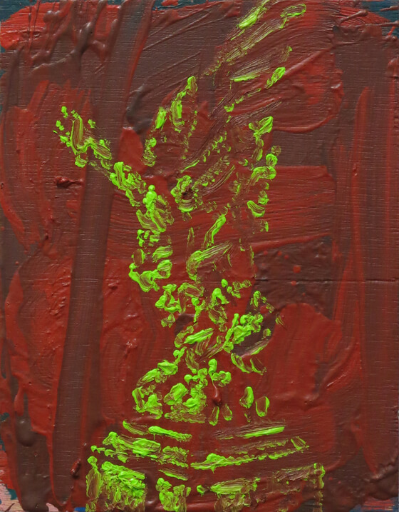 Monuments VII - Oil on Wood, 24,5 x 19 cm, 2015