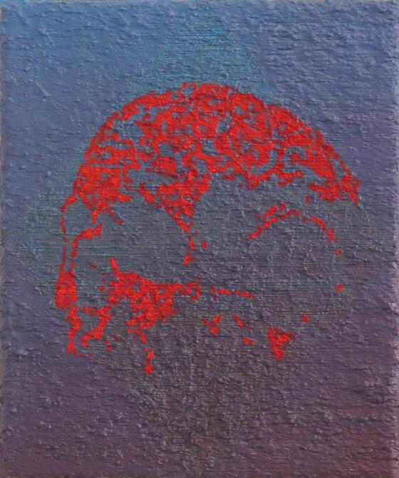 Skull I - Oil on Canvas, 45 x 37 cm, 2016