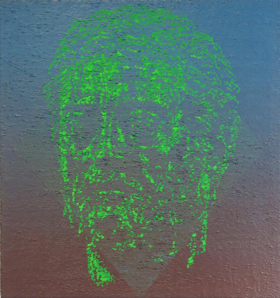 Head VII - Oil on Canvas, 115 x 110 cm, 2016
