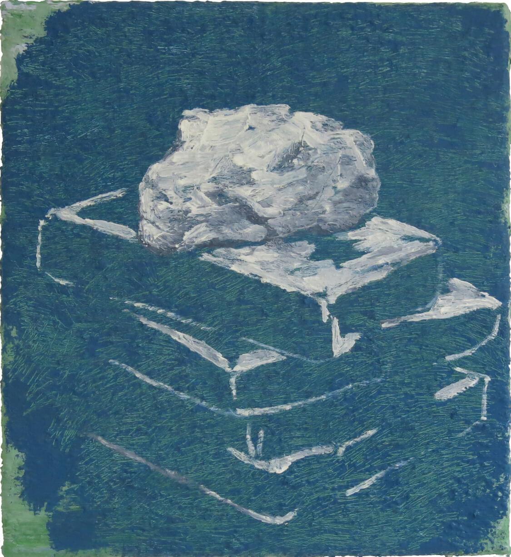 Greek Stones I - Oil on Canvas, 61 x 55 cm, 2019