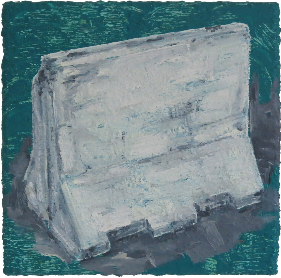 Jersey Barrier I - Oil on Canvas, 50 x 50 cm, 2019