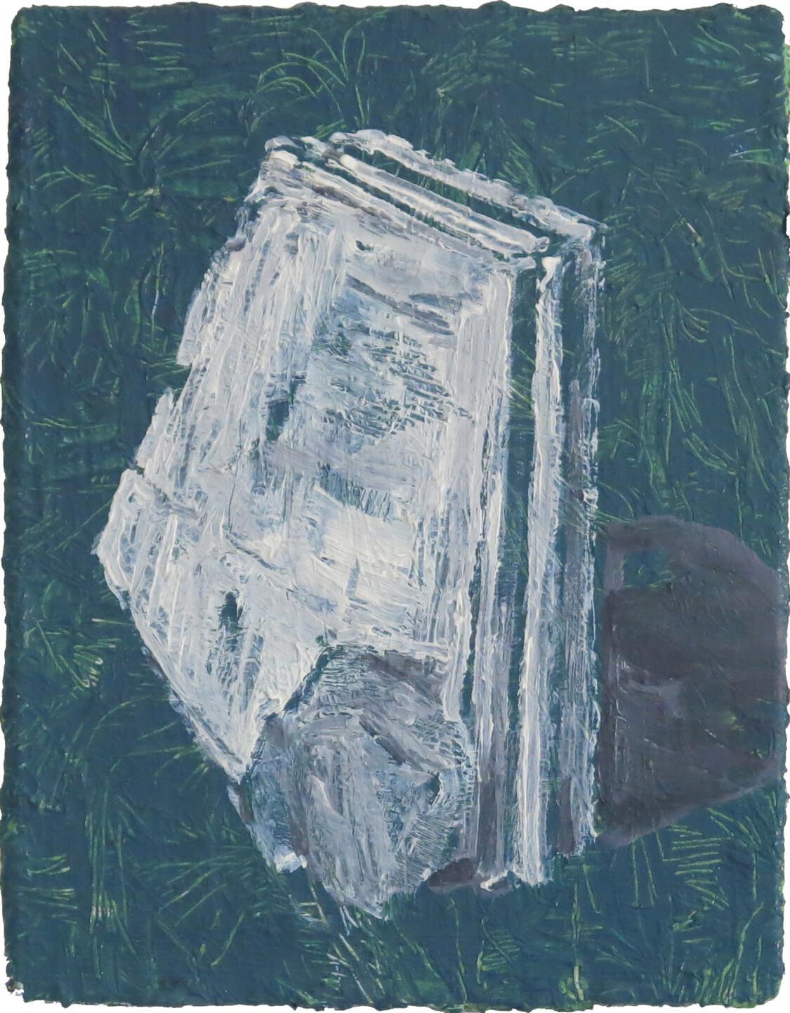 Jersey Barrier II - Oil on Canvas, 40 x 31 cm, 2019